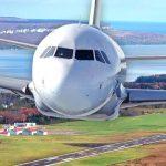 Plane over the Wiarton Airport
