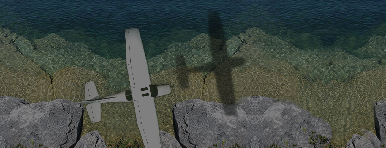 Plane over Georgian Bay