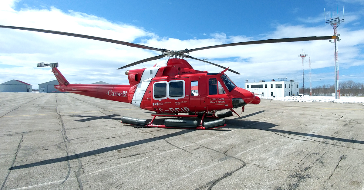 Bell 412 Coast Guard helicopter