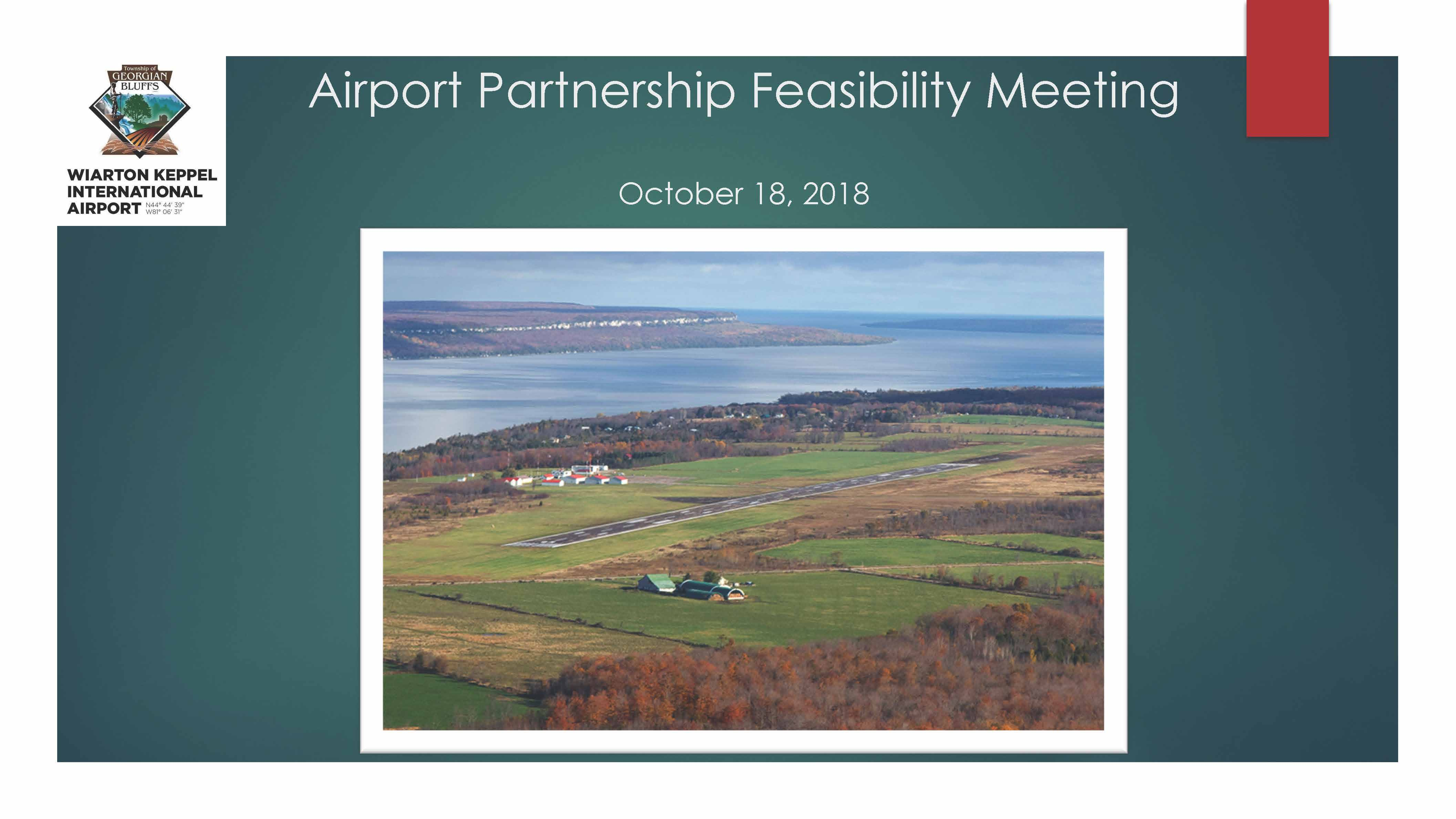 Airport Partnership Feasibility presentation